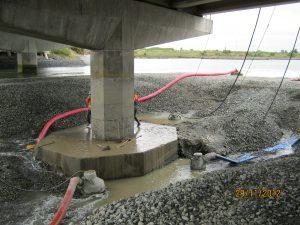 Photograph of bridge repair. 29/11/2012.