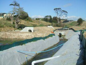 Photograph of diversion and culvert.